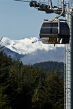 Blackcomb Gondola Rolling Along Royalty Free Stock Image