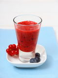Blackcurrant blueberry smoothie, soft focus Stock Images
