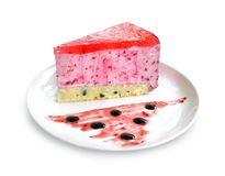 Blackcurrant cake Royalty Free Stock Image