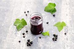 Blackcurrant jam Stock Photo