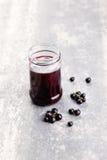 Blackcurrant jam Royalty Free Stock Image