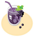Blackcurrant juice Royalty Free Stock Photos