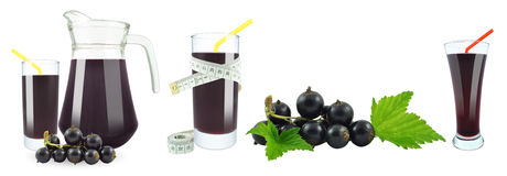 Blackcurrant juice and meter Royalty Free Stock Image