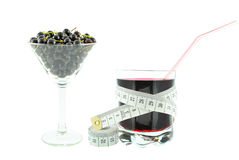 Blackcurrant juice and meter Stock Photography