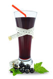 Blackcurrant juice and meter Stock Image