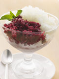 Blackcurrant and Lemon Granita Royalty Free Stock Photo