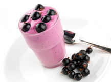 Blackcurrant yoghurt Royalty Free Stock Images