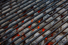 Blackened barbeque grid Stock Image