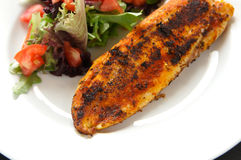 Blackened fillet of white fish Stock Photos