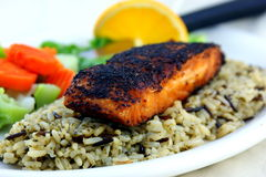 Blackened Salmon Stock Images