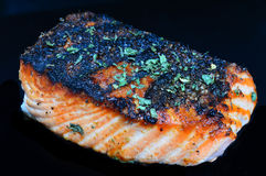 Blackened salmon fillet Royalty Free Stock Image