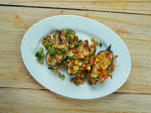 Blackened salmon with salsa Royalty Free Stock Images