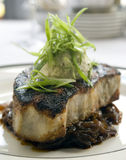 Blackened swordfish steak Stock Photo