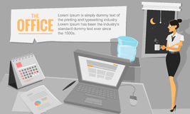blackenning серия офиса бизнесменов иллюстрация вектора