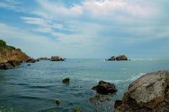 Blacket Sea från Bulgarien Arkivbilder