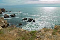Blacket Sea från Bulgarien Arkivbild