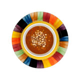 Blackeye Peas Soup In Bowl On Dish Top View Stock Photos