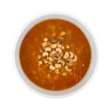 Blackeye Peas Soup In Bowl Top View Stock Photo