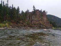Blackfoot river montana. Fly fishing the blackfoot river in montana Stock Photo