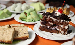 Blackforest cake. With other kind Stock Photos