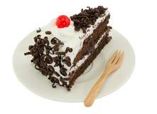 Blackforest cake on white background Royalty Free Stock Photo