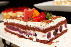 Blackforest, chocolate cake with cherries in it. Stock Photography