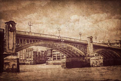 Blackfrairs Bridge in sepia Stock Photos