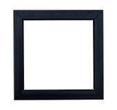 Blackframe lustré sur un baclground blanc Images stock
