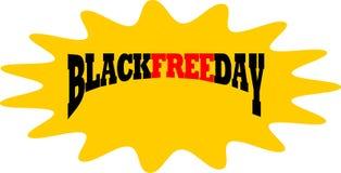 Blackfree fredag i splahsymbol royaltyfri illustrationer