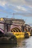 Blackfriars bridge. In City of London Royalty Free Stock Photo