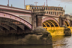 Blackfriars bridge. In City of London Stock Image