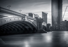 Blackfriars Bridge in London. As seen from the northward side Stock Photography