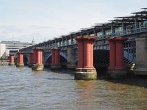 Blackfriars bridge in London. Blackfriars Bridge over River Thames in London, UK stock images