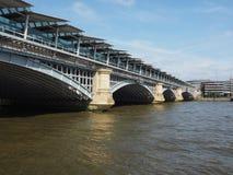 Blackfriars bridge in London. Blackfriars Bridge over River Thames in London, UK royalty free stock images