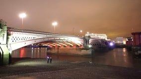 The Blackfriars Bridge London. LONDON, ENGLAND stock video footage
