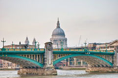 Blackfriars Bridge at London, England Stock Photo