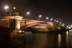 Blackfriars bridge in London over River Thames Stock Images
