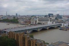 Blackfriars bridge in London. Blackfriars Bridge over River Thames in London, UK Stock Photos