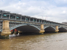 Blackfriars bridge in London. Blackfriars Bridge over River Thames in London, UK Royalty Free Stock Photos