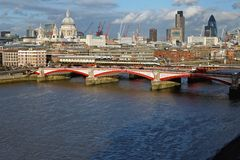 Blackfriars Bridge London Royalty Free Stock Photography
