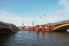 Blackfriars bridge - London - UK stock images