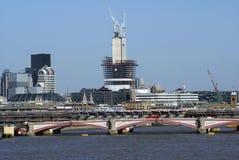 The Blackfriars Bridge over River Thames in London, England, Europe. The Blackfriars Bridge over River Thames in London city, England, Europe Stock Image