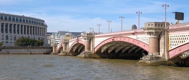 Blackfriars bridge and river Thames in Lonon Stock Images