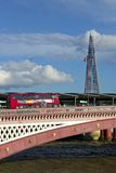 Blackfriars bridge and a Shard on the background , London Royalty Free Stock Images