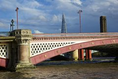 Blackfriars bridge and a Shard on the background , London Stock Photography