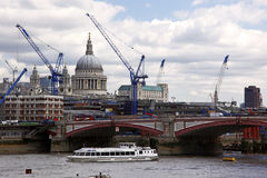 Blackfriars bridge and St Paul's cathedral Stock Photography
