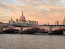 Blackfriars Bridge at Sunset royalty free stock photo