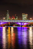 Blackfriars, Cheesegrater and Walkie Talkie. In London royalty free stock photo