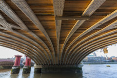 Blackfriars Railway Bridge. London, England, United Kingdom Royalty Free Stock Photo