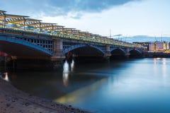 Blackfriars Railway Bridge. London Blackfriars national rail bridge, station to have platforms that span the river Thames stock photos